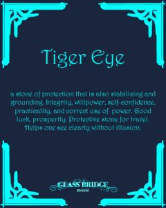 Tiger Eye Attributes - Glass Bridge Music
