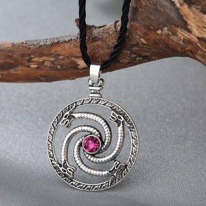 Celtic Viking Wolf Pendant Necklace